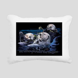 viewseaottrs_01-over321  Rectangular Canvas Pillow