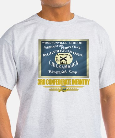 3rd Confederate Infantry (flag 10) T-Shirt