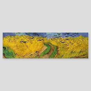 Van Gogh Wheatfield Wraparound Sticker (Bumper)