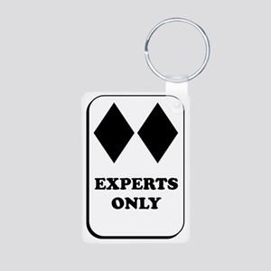 Experts Only Aluminum Photo Keychain
