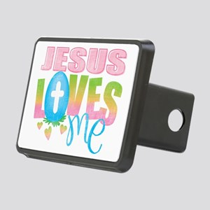 Jesus Loves Me Rectangular Hitch Cover