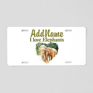 ELEPHANT LOVE Aluminum License Plate