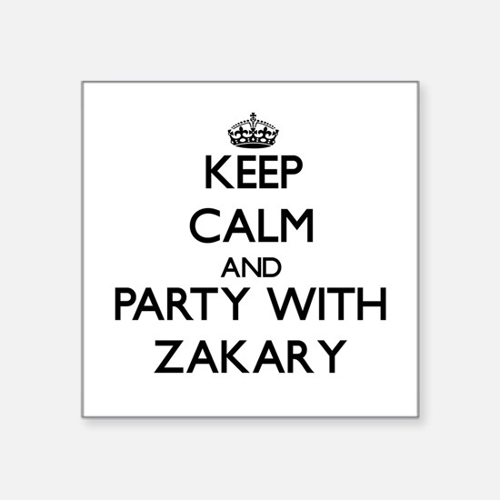 Keep Calm and Party with Zakary Sticker