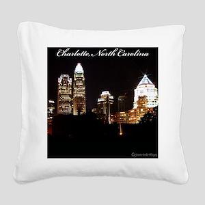 Charlotte Design Square Canvas Pillow