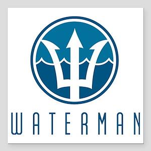 "watermanlogo1 Square Car Magnet 3"" x 3"""