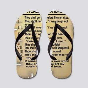 Booty Call Commandments4 copy Flip Flops
