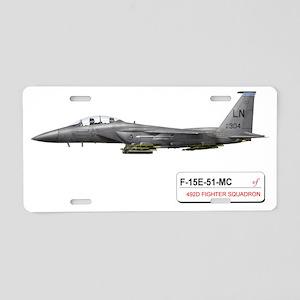 f-15_libya_down Aluminum License Plate