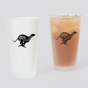 Grey is the New Black Drinking Glass
