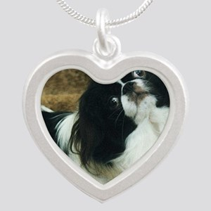 Japanese Chin Silver Heart Necklace
