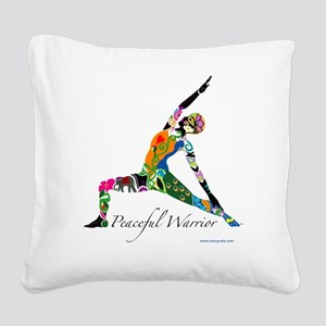 PeacefulWarriorT Square Canvas Pillow