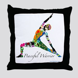 PeacefulWarriorT Throw Pillow