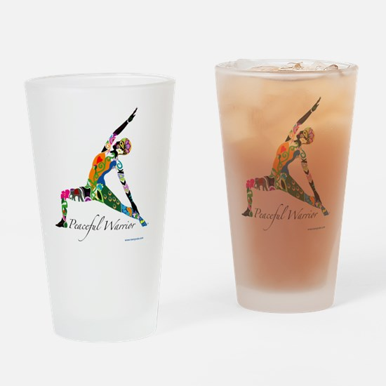 PeacefulWarriorT Drinking Glass