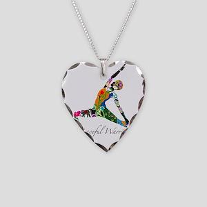 PeacefulWarriorT Necklace Heart Charm