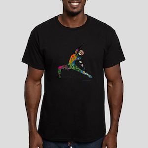 PeacefulWarriorT Men's Fitted T-Shirt (dark)