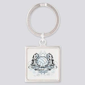 Volleyball Aunt Square Keychain