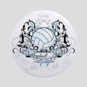 Volleyball Aunt Round Ornament