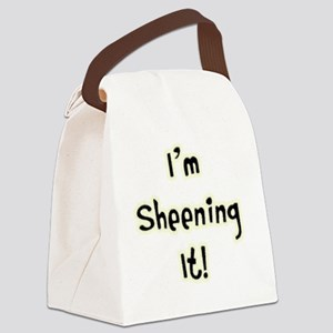 Im Sheening It TEXT Canvas Lunch Bag