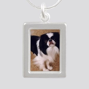 Japanese Chin Silver Portrait Necklace