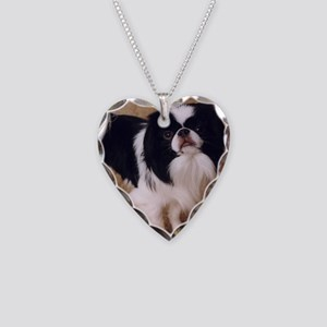 Japanese Chin Necklace Heart Charm