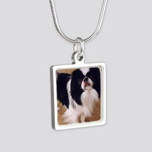 Japanese Chin Silver Square Necklace