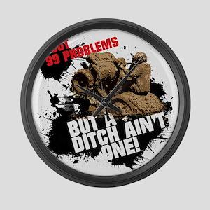99 problems atv Large Wall Clock