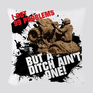 99 problems atv Woven Throw Pillow