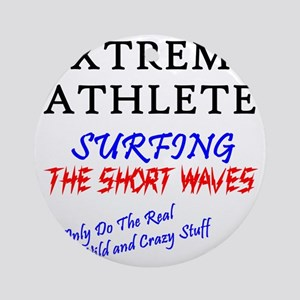 SURFING SHORT-WAVES Cafe Round Ornament