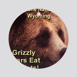 grizzly_bears_eat_tourists Round Ornament