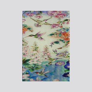 HUMMINGBIRDS_PAINTING_CANVAS_12BY Rectangle Magnet