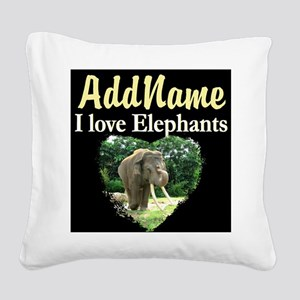 CUTE ELEPHANT Square Canvas Pillow