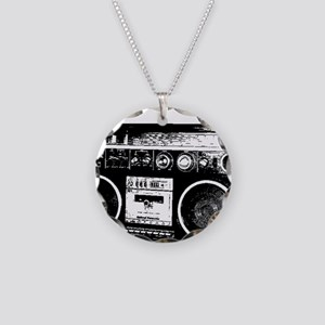 boombox Necklace Circle Charm