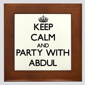 Keep Calm and Party with Abdul Framed Tile