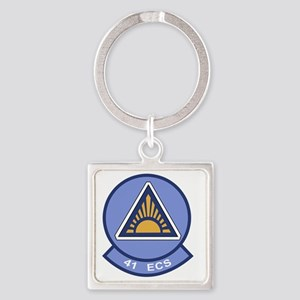 41st Electronic Combat Squadron Square Keychain