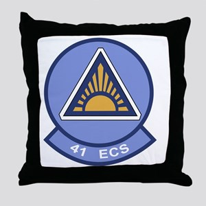 41st Electronic Combat Squadron Throw Pillow