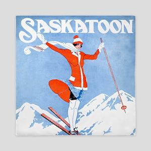 Saskatoon Skiing Queen Duvet