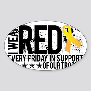 Red4OurTroops Sticker (Oval)