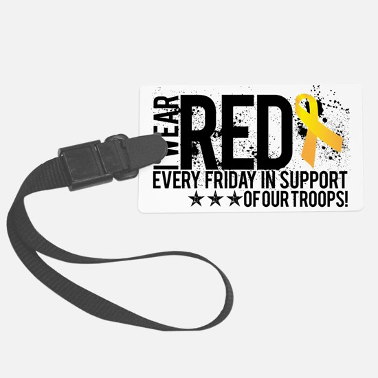 Red4OurTroops Luggage Tag