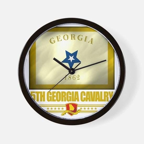 5th Georgia Cavalry (Flag 10) Wall Clock