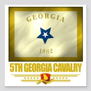 "5th Georgia Cavalry (Fla Square Car Magnet 3"" x 3"""