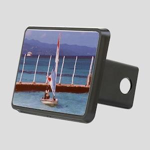 Rasta_Man_Sailing_A_Boat_M Rectangular Hitch Cover