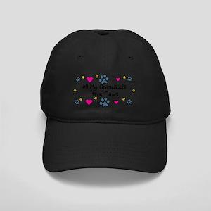 All My Grandkids Have Paws Black Cap