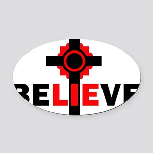 +believeB Oval Car Magnet