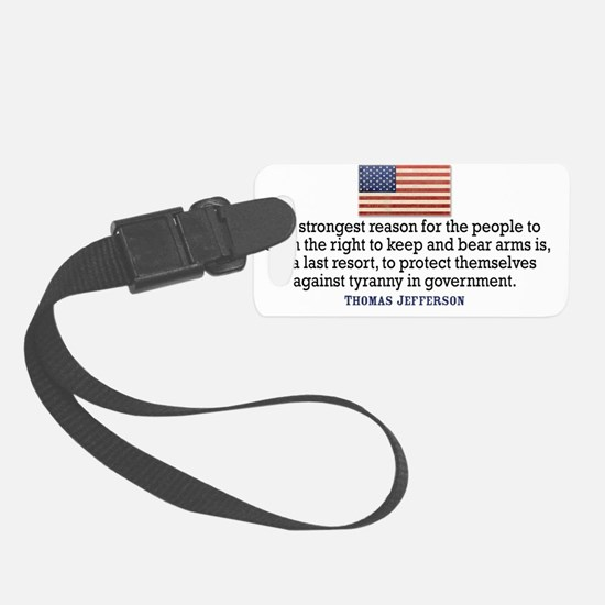 license-plate_3-11_03_jefferson Small Luggage Tag