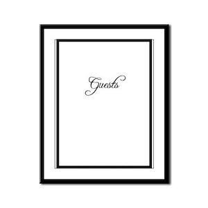 Formal Font Guestbook Framed Panel Print