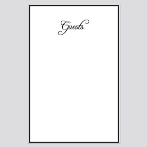 Formal Font Guestbook Large Poster