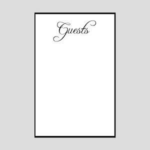 Formal Font Guestbook Mini Poster Print