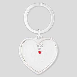 bad juju black shirt Heart Keychain