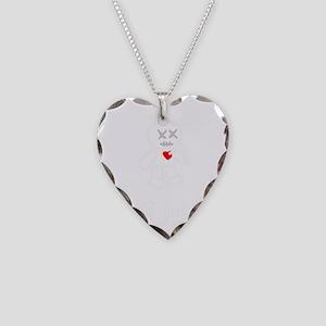 bad juju black shirt Necklace Heart Charm