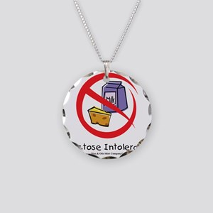 lactose-intolerant Necklace Circle Charm