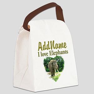 LOVE ELEPHANTS Canvas Lunch Bag
